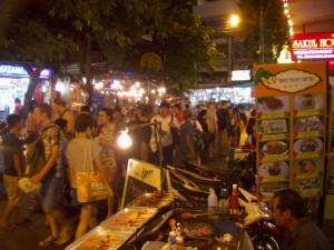 タイ カオサン 夜景