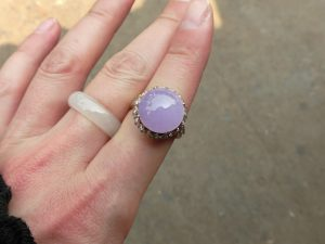 ラベンダー氷翡翠ルース 紫円