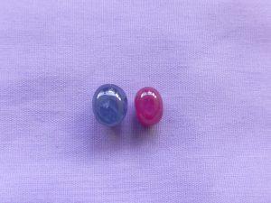 スタールビー&スターサファイアルース 赤と青