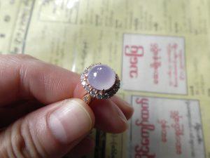 ラベンダー翡翠ルース 紫水